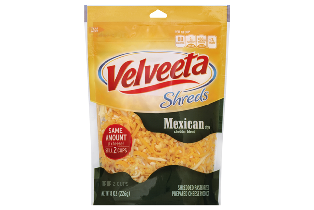 Kraft Mexican Style Cheddar Blend Velveeta Shreds 8 Oz. Bag