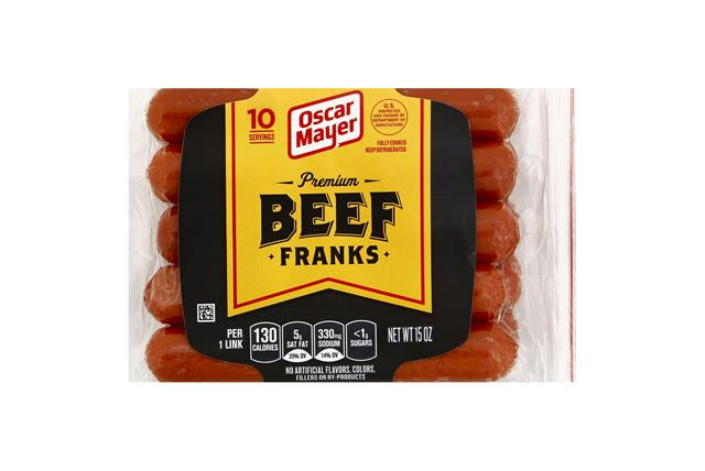 Oscar Mayer Premium Beef Franks 10 ct Pack