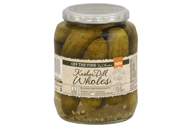 CLAUSSEN Off the Vine Kosher Whole Pickles   32 fl oz. Jar