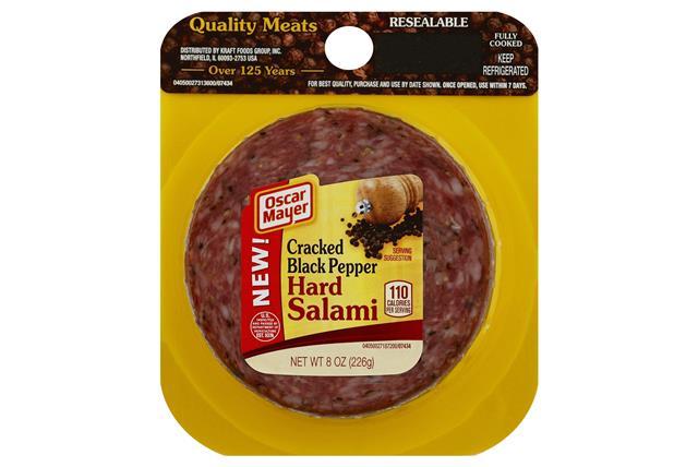 OSCAR MAYER Cracked Black Pepper Hard Salami 8oz Pack