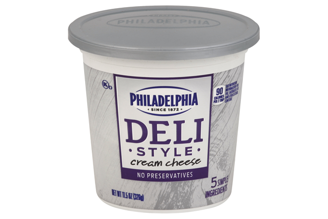 Philadelphia  Deli Style Cream Cheese  Plain  11.5 Oz Tub