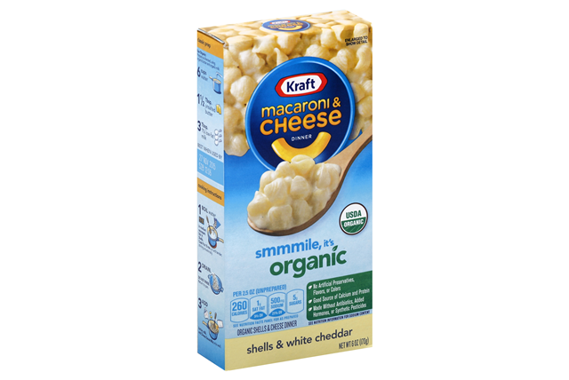 Kraft Organic White Cheddar Macaroni & Cheese Dinner 6 oz. Box