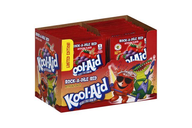 Kool-Aid(R) Rock-a-Dile Red Unsweetened Drink Mix 0.13 oz. Packet