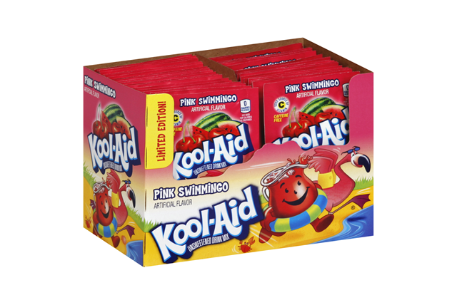 Kool-Aid(R) Pink Swimmingo Unsweetened Drink Mix 0.14 oz. Packet