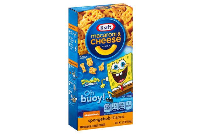 Kraft SpongeBob Shapes Macaroni & Cheese Dinner 5.5 oz. Box