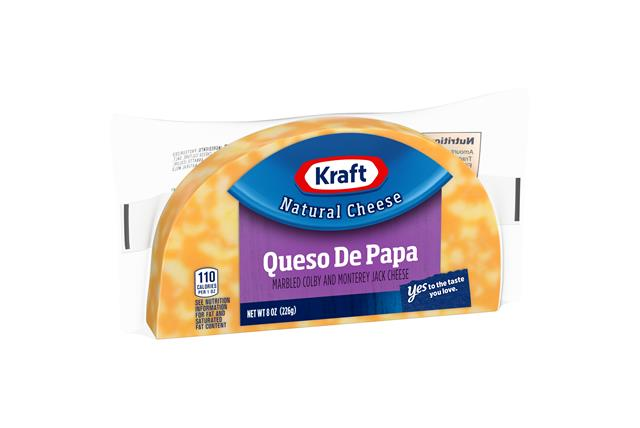 Kraft 8 Oz Half Moon Natural Cheese  Colby/Montereyjack     1 Wrapper Each