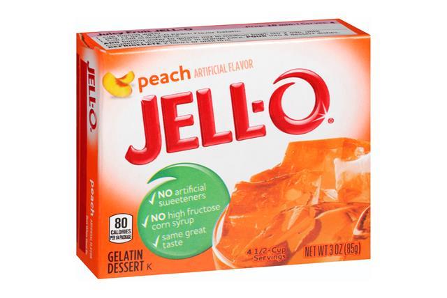 Jell-O Gelatin Peach 3 Oz Box