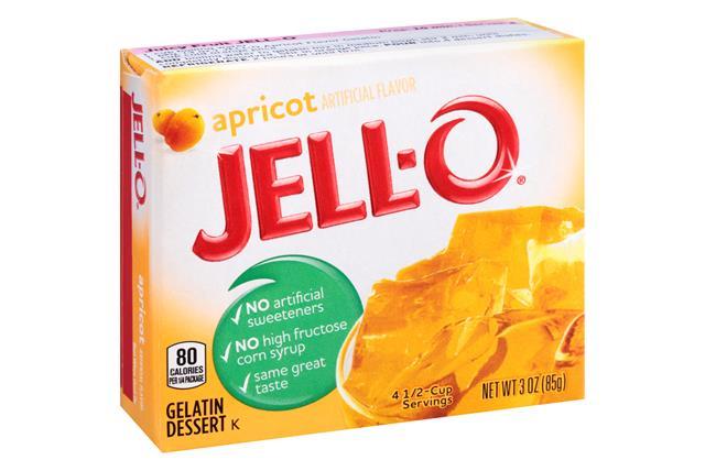 Jell-O Gelatin Apricot 3 Oz Box