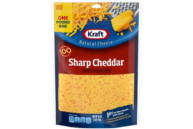 Kraft Sharp Shredded Natural Cheese  16Oz Bag