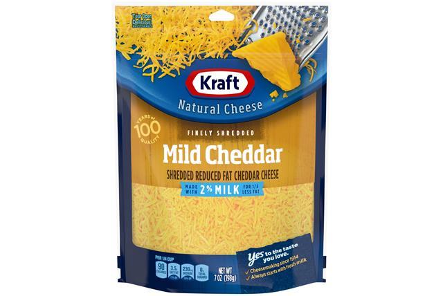 Kraft Shredded 2% Mild Cheddar Cheese - 7Oz