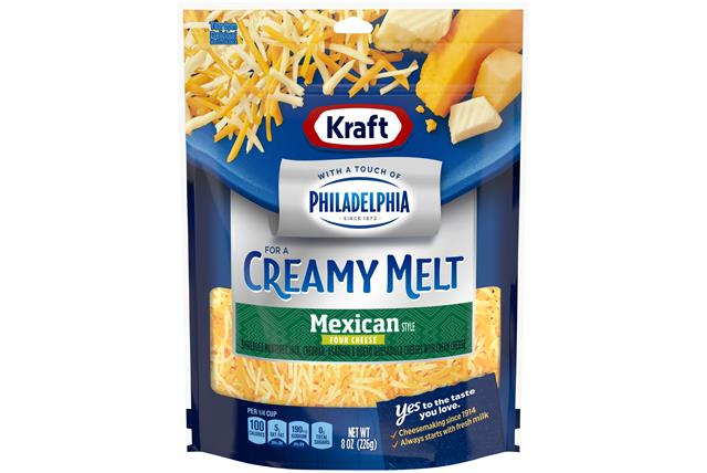 Kraft Mexican Style Four Cheese With A Touch Of Philadelphia Shredded Natural Cheese  8Oz Bag