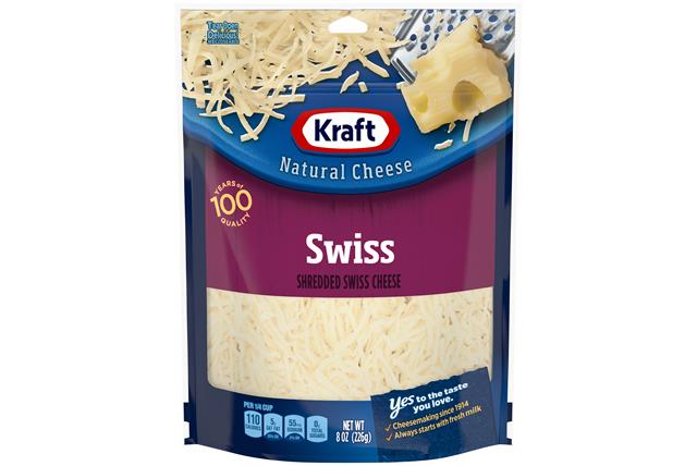 Kraft Swiss Cheese Shredded Natural Cheese  8Oz Bag
