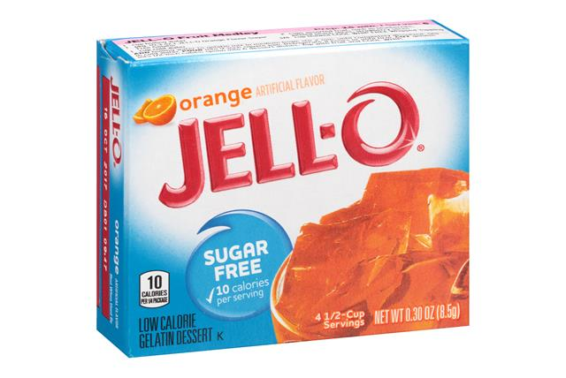 Jell-O  Gelatin Orange Sugar Free  0.3 Oz Box