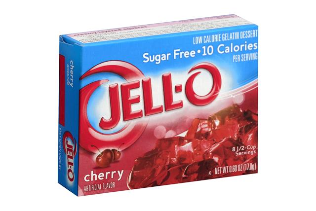 Jell-O  Gelatin Cherry Sugar Free  0.6 Oz Box