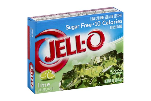 Jell-O Gelatin Lime Sugar Free 0.6 Oz Box