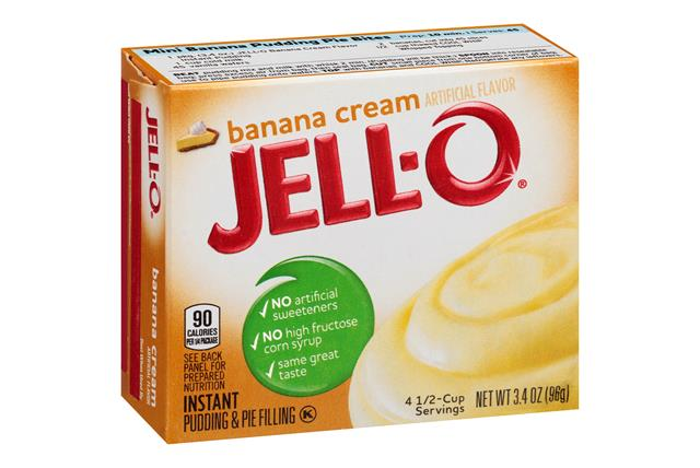 Jell-O Pudding-Instant Banana Cream 3.4 Oz Box
