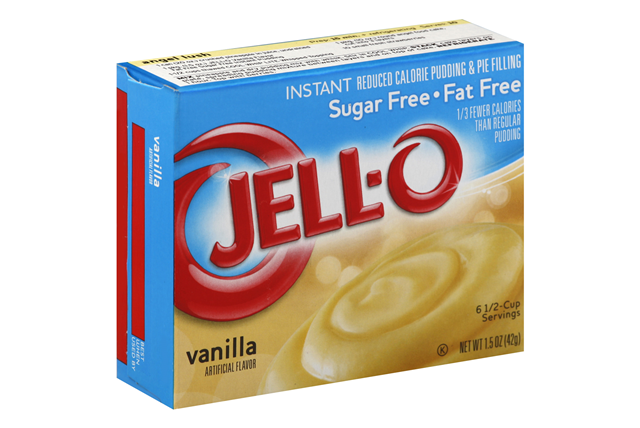 JELL-O PUDDING-INSTANT VANILLA SUGAR FREE FAT FREE 1.5 OZ BOX