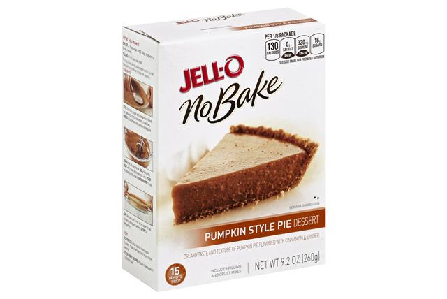 Jell-O No Bake Pumpkin Dessert Mix 9.2 Oz Box