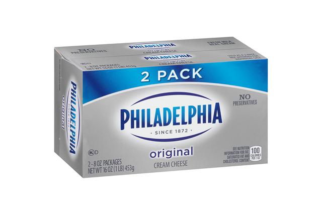 Philadelphia 16 Oz Cream Cheese-Brick       2 Shrink Wrapped Inner Pack