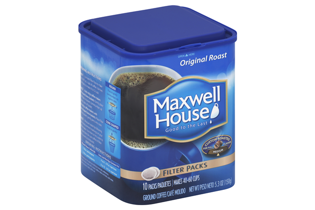 Maxwell House Filter Packs 10 Ct Coffee 5.3 Oz Canister