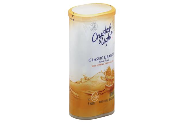 CRYSTAL LIGHT MULTISERVE Classic Orange Sugar Free 2.5 oz. Packet