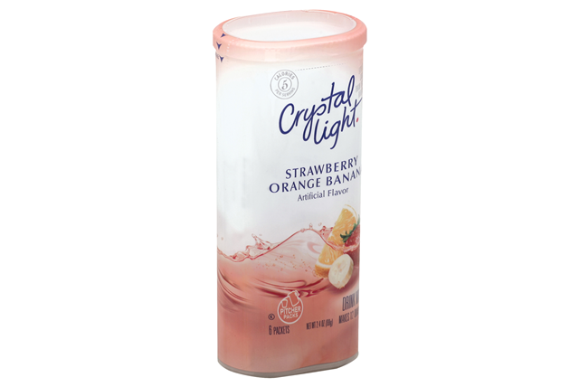 CRYSTAL LIGHT MULTISERVE Strawberry Banana Orange Sugar Free 2.4 oz. Packet