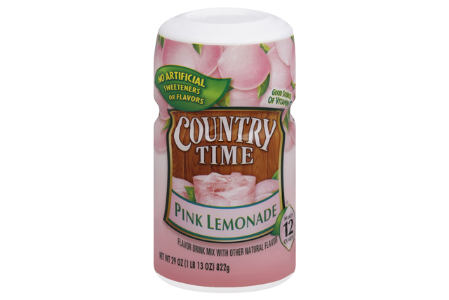 COUNTRY TIME Pink Lemonade Sugar Sweetened Powdered Soft Drink 29 oz. Cannister