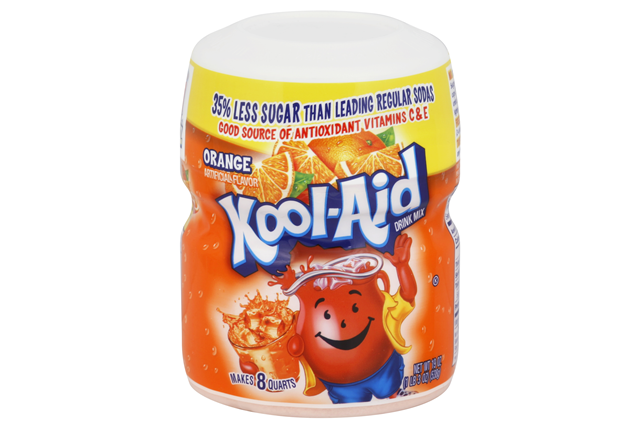 Kool-Aid Orange Drink Mix 19 oz. Canister