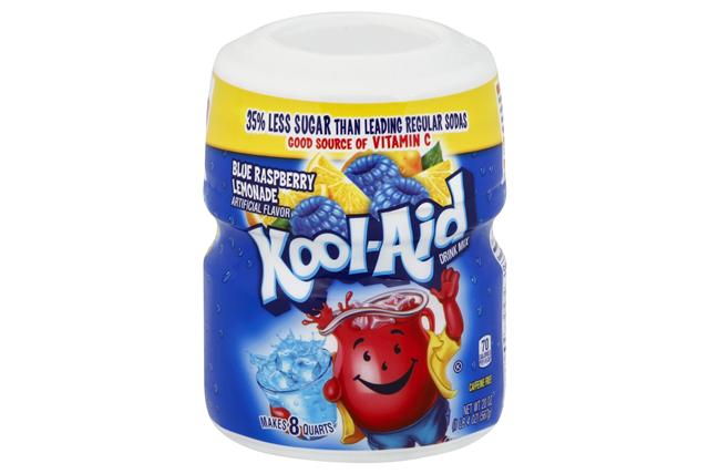 Kool-Aid Twists Ice Blue Raspberry Lemonade Soft Drink Mix 20 Oz Canister