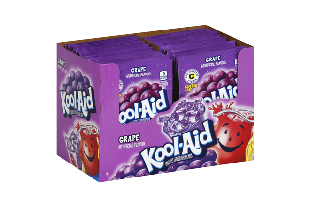 Kool-Aid Grape Unsweetened Soft Drink Mix 5-0.13 oz. Packs