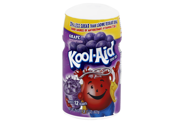 Kool-Aid Grape Sugar-Sweetened Caffeine Free Soft Drink Mix 29 Oz Canister