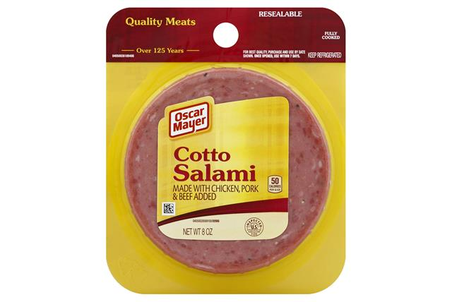 OSCAR MAYER Cold Cuts Cotto Salami 8oz Peg