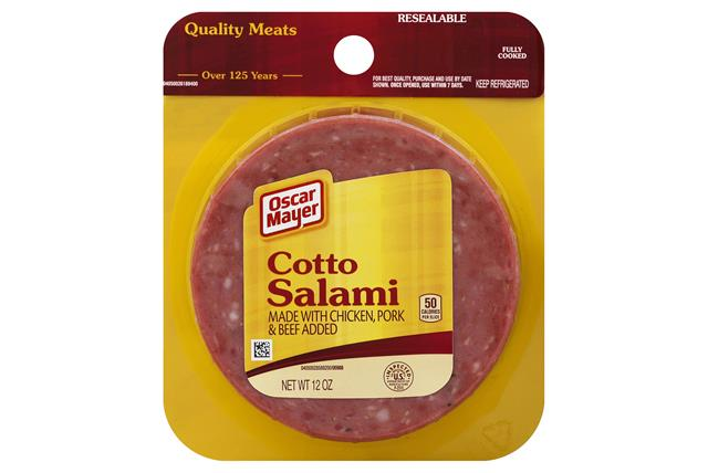 OSCAR MAYER Cold Cuts Cotto Salami 12oz Peg