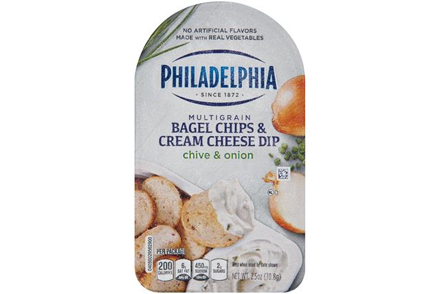 Philadelphia Chive And Onion Bagel Chips & Cream Cheese Dip Cheese Snacks  2.5 Oz