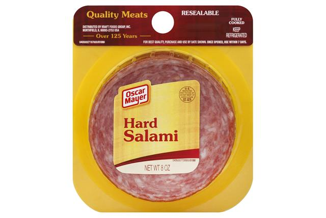 OSCAR MAYER Authentic Hard Salami 8oz Peg