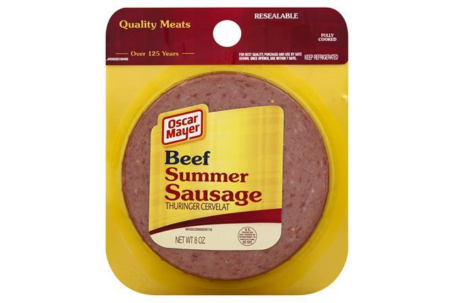 OSCAR MAYER Beef Summer Sausage 8oz Peg