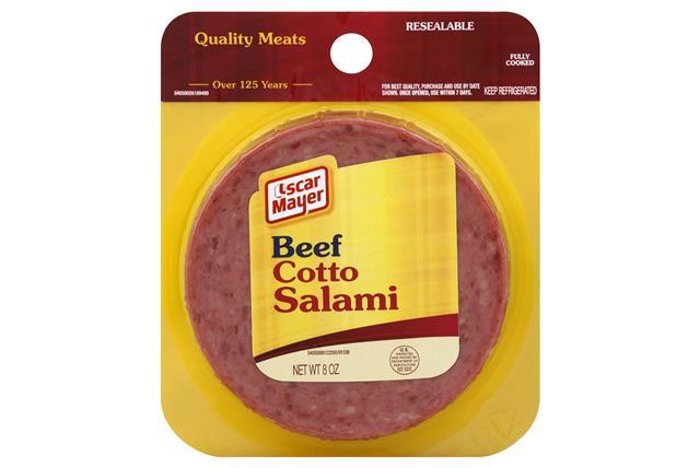 OSCAR MAYER Cold Cuts Beef Cotto Salami 8oz Peg