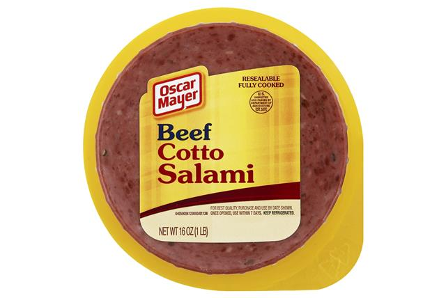 OSCAR MAYER Cold Cuts Beef Cotto Salami 16oz Well