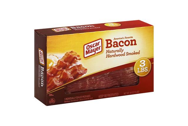 OSCAR MAYER Naturally Hardwood Smoked Bacon Club 3 Ib Box