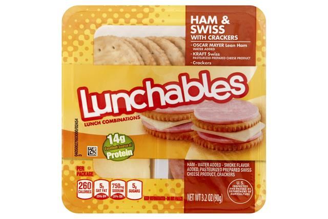 LUNCHABLES Ham & Swiss 3.2 OZ Tray