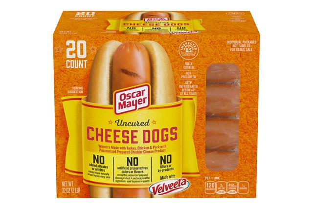 Oscar Mayer Velveeta Cheese Dog 5278 on oscar mayer selects nutrition