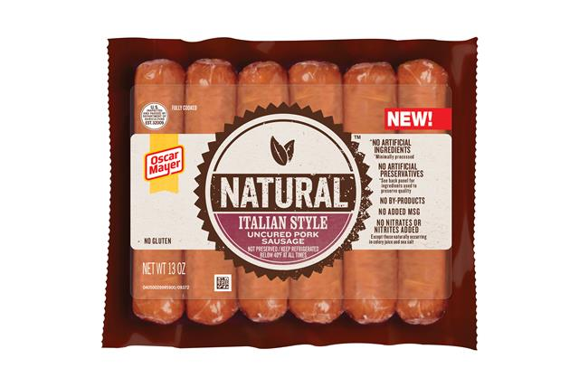 Oscar Mayer Natural Italian Style Uncured Pork Sausage 13 Oz