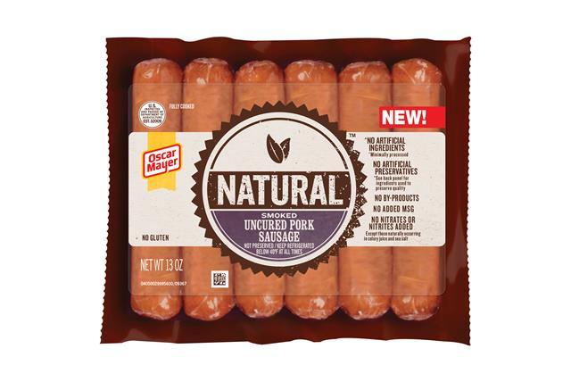 Oscar Mayer Natural Smoked Uncured Pork Sausage 13 Oz