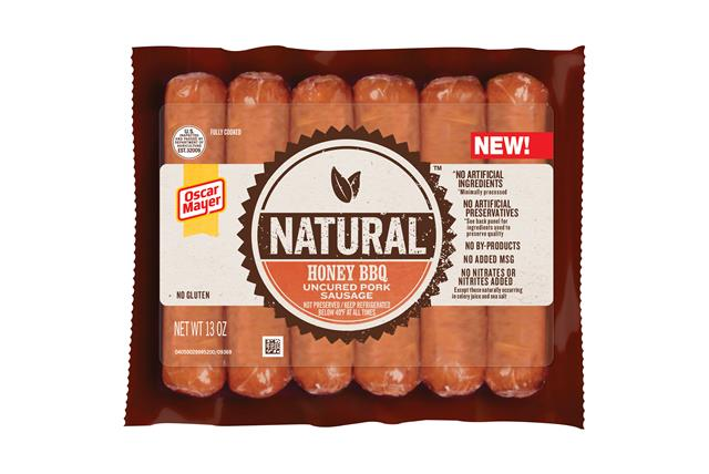 Oscar Mayer Natural Honey Bbq Uncured Pork Sausage 13 Oz