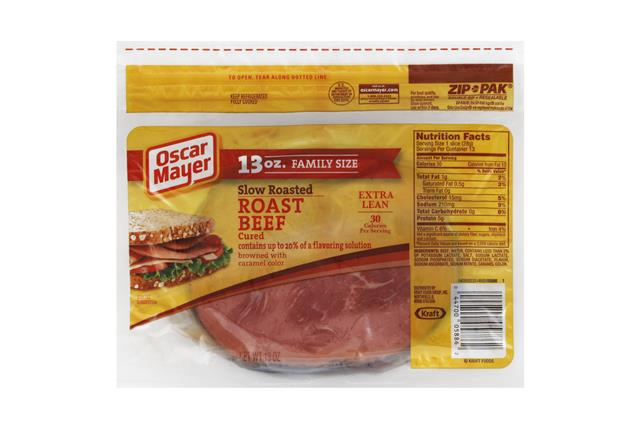 OSCAR MAYER Cold Cuts Slow Roasted Roast Beef 13oz Pack