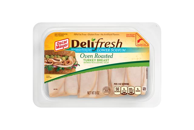 Oscar Mayer Deli Fresh Lower Sodium Oven Roasted Turkey Breast 8oz