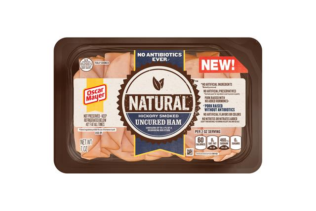 Oscar Mayer Natural No Antibiotics Ever Hickory Smoked Uncured Ham 7Oz