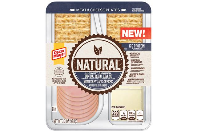 Natural Hickory Smoked Uncured Ham, Monterey Jack Cheese, Whole Wheat Crackers