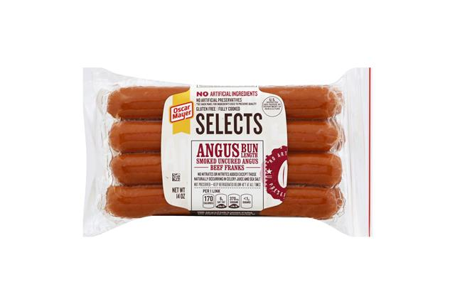 OSCAR MAYER Selects Angus Bun-Length Beef Franks 14oz Pack