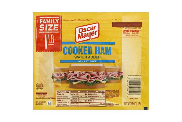 OSCAR MAYER Cold Cuts Cooked Ham 16oz Pack